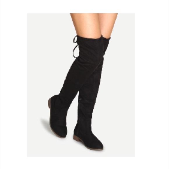 Worn Knee High Suede Black Boots | Poshmark